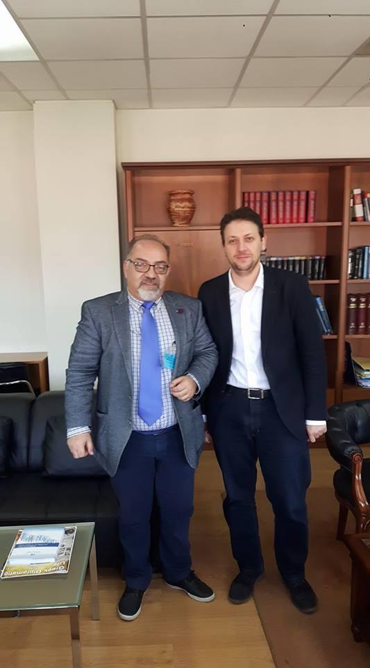 3-5-2017 Υπουργείο Δικαιοσύνης. Συνάντηση Γ.Γραμματέα Υπουργείου κ. Σάρλη με τον Πρόεδρο του Δ.Σ.Δ.