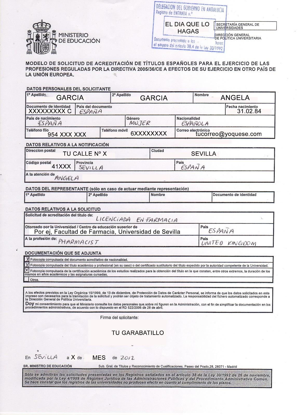 6 compliance with directives una farmaceutica en uk for Notificacion ministerio del interior