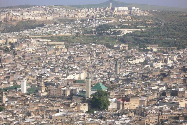 Panoramica de Fez, Marruecos