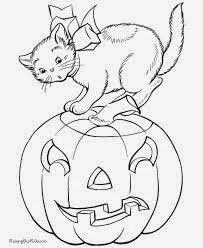 Free Halloween Cat Coloring Pages For Kids 5