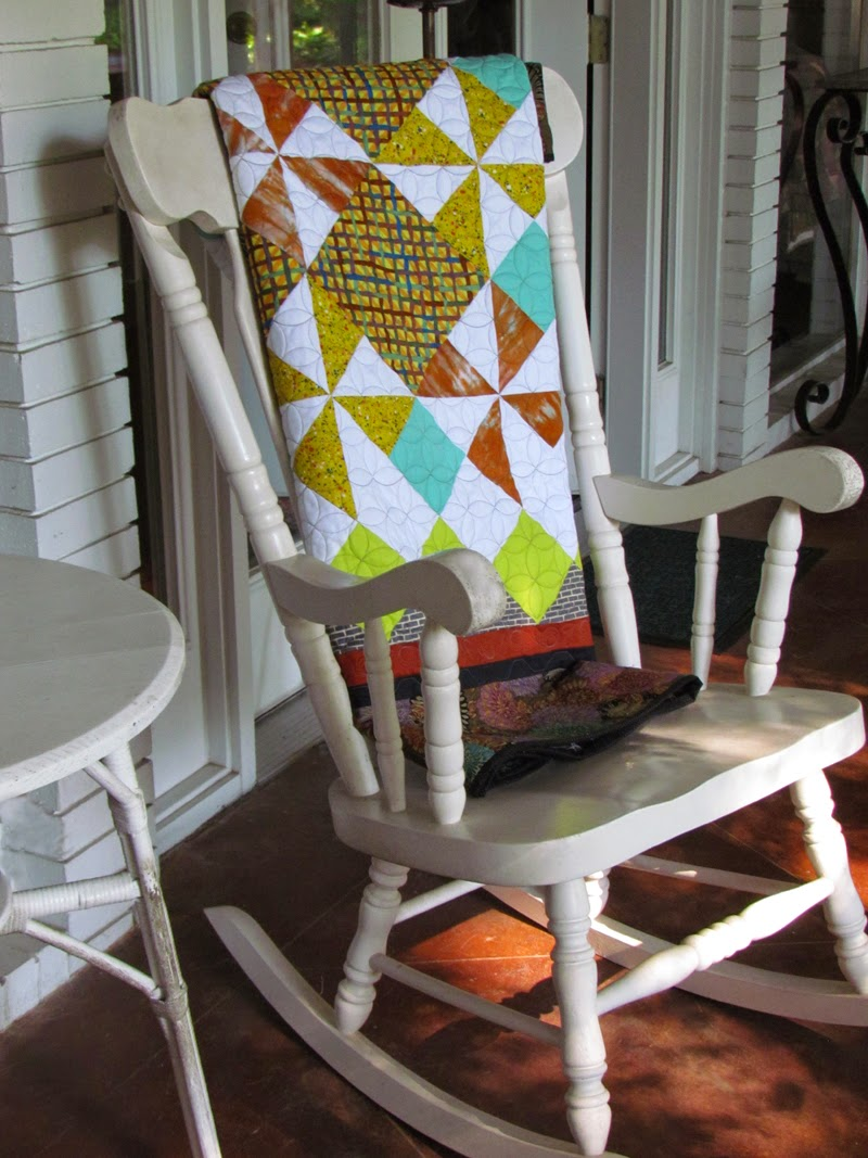 "a square quilt by Marty Mason:  ""It's hip to be square"""