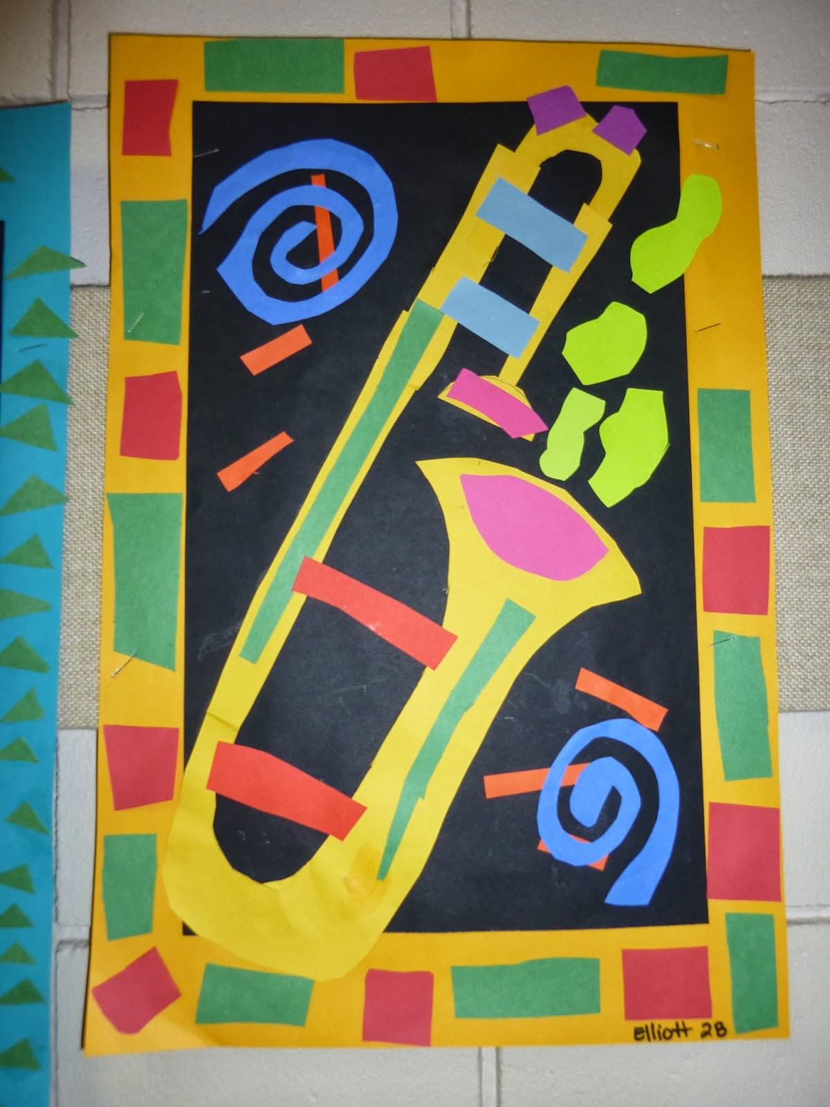 Mrs Werner S Art Room Matisse Inspired Music Collages