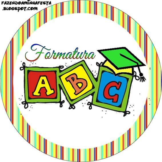 Armario Giratorio De Zapatos ~ Formatura do ABC Kit Completo com molduras para convites