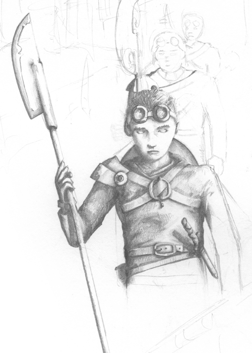 Drawing of a Boy Warrior