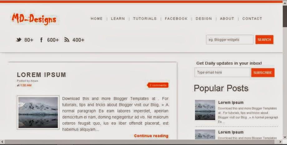 Md-Design Blogger Template