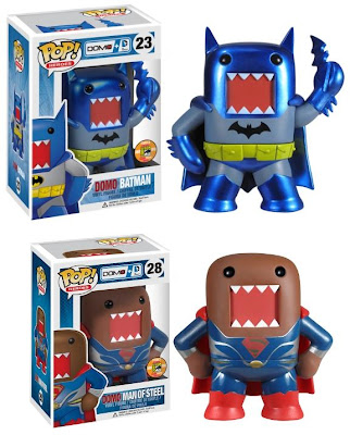 San Diego Comic-Con 2013 Exclusive DC Comics x Domo Pop! Heroes Vinyl Figures by Funko - Metallic Domo Batman & Domo Superman Man of Steel