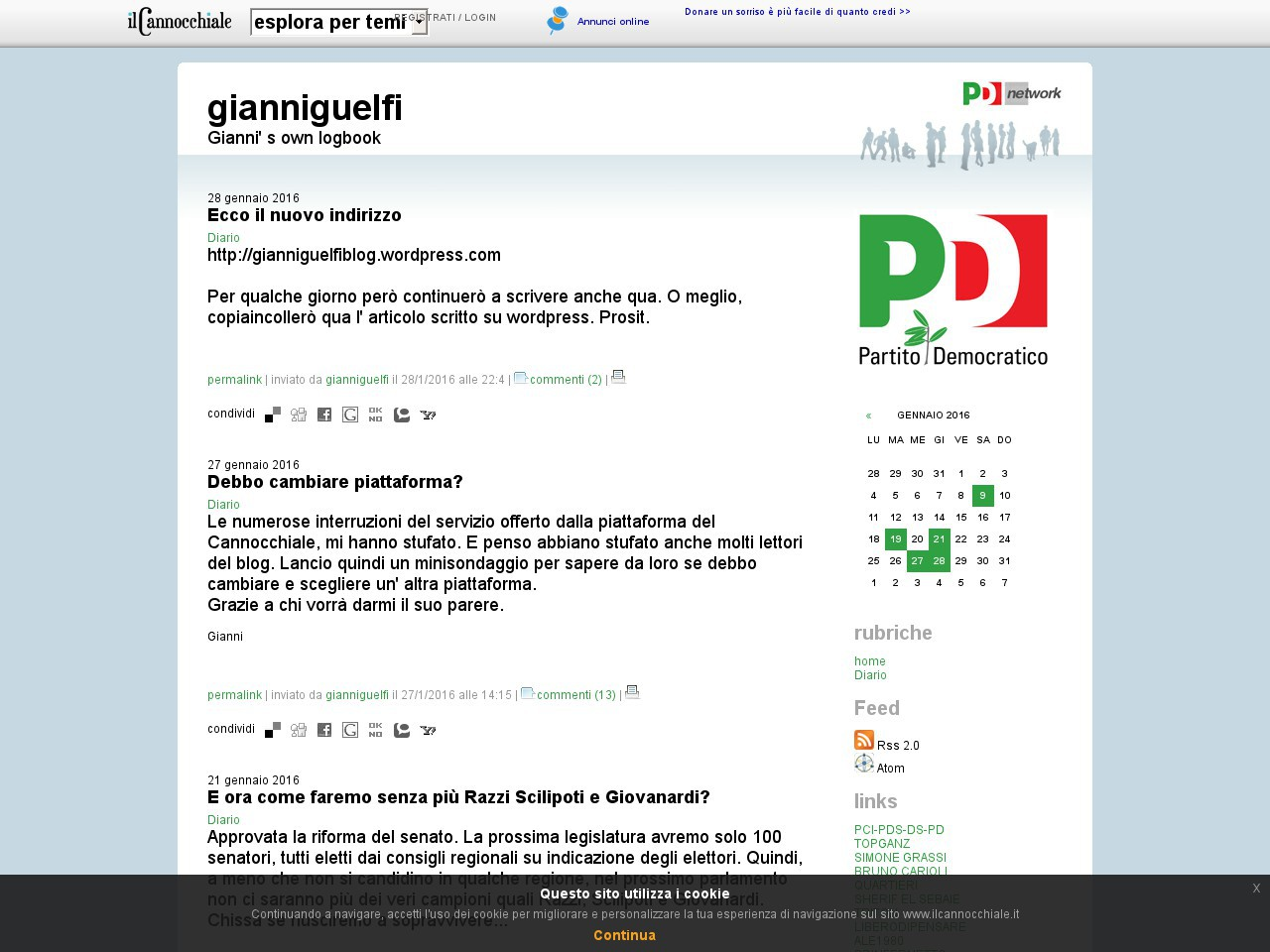 Il mio vecchio blog