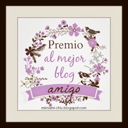 Premio a mi blog: