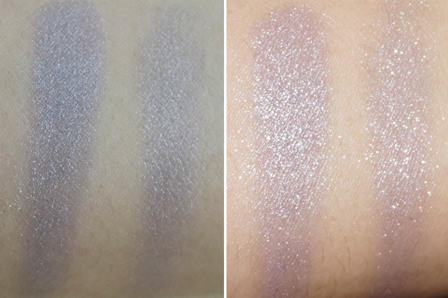 Shiseido Shimmering Cream Eye Color in Lavande (L) No Flash, (R) With Flash