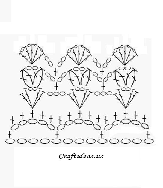 ergahandmade  crochet rose   diagram   free pattern