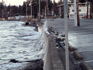 King tide at Birch Bay, photo from the Washington King Tide Flickr initiative