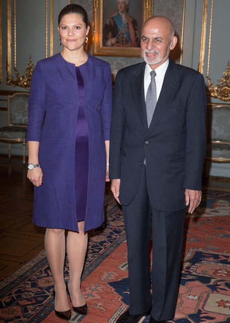Princess Victoria Met With The President Of Afghanistan