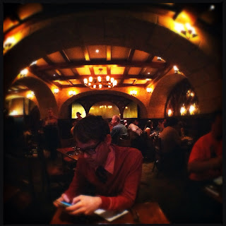 ... feel of a dank wine cellar. Though the tables are situated VERY close together the atmosphere remains cozy and intimate and offers a great escape from ... & Disney Hipster Blog: Le Cellier: Quinoa Potato Cake