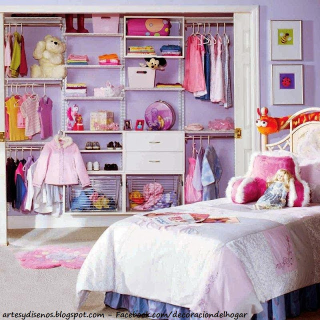 CLOSET PARA NIÑAS - GIRLS by artesydisenos.blogspot.com