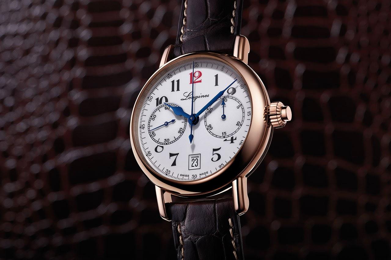 The Longines Column-Wheel Single Push-Piece Chronograph Watch