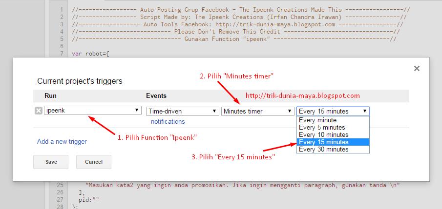 Cara Mudah Membuat Bot Auto Posting Grup Facebook (Google Script)