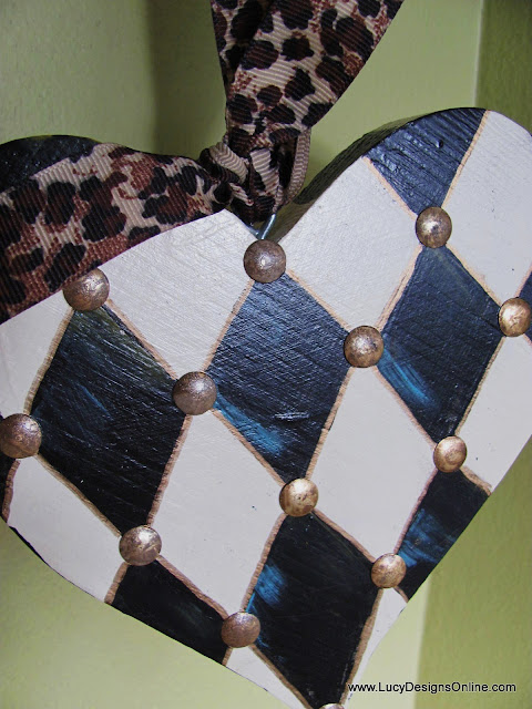studded heart ornament