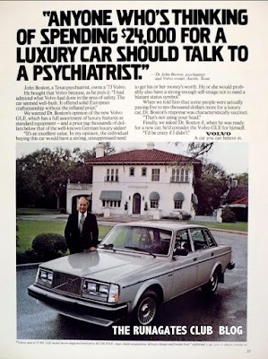 "Classic VOLVO ad, 1980 ""Anyone Who's Thinking of Spending $24,000"""