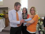 Treasured Pic~~~our kids admiring Baby Grant at his Baptism