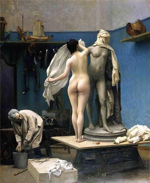 modeling,edouard dantan,painting review