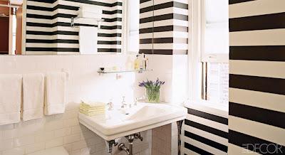 Imbiancare casa idee idee per pareti a strisce - Dipingere bagno ...