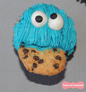 cupcake del monstruo de las galletas