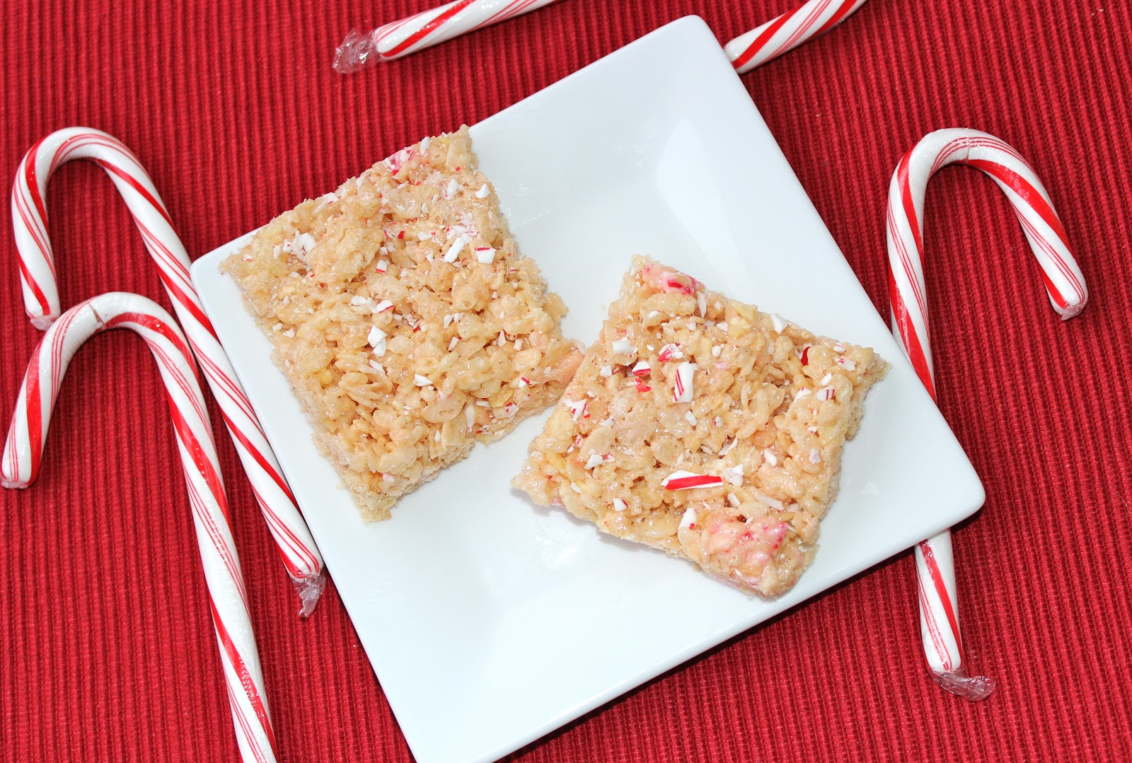 360 Family Nutrition: Low Fat Candy Cane Rice Krispie Treats