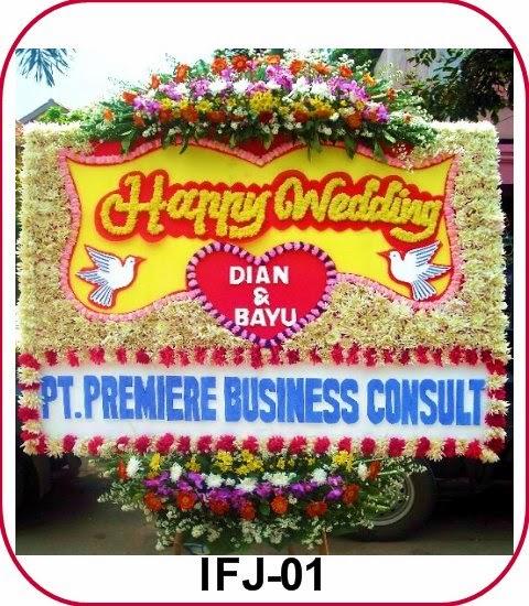 bunga happy wedding tangerang