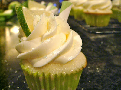 Mini margarita cupcakes