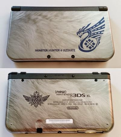 Nintendo New 3DS XL - Monster Hunter Ultimate 4 - front and back