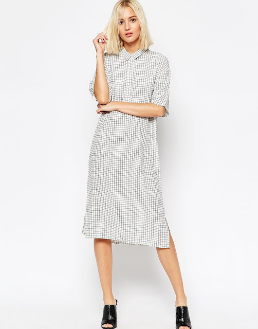 selected shirt dress, square shirt dress,