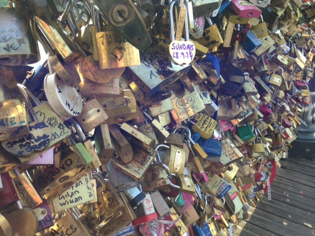 Lovers' Bridge Pont Des Arts in Paris