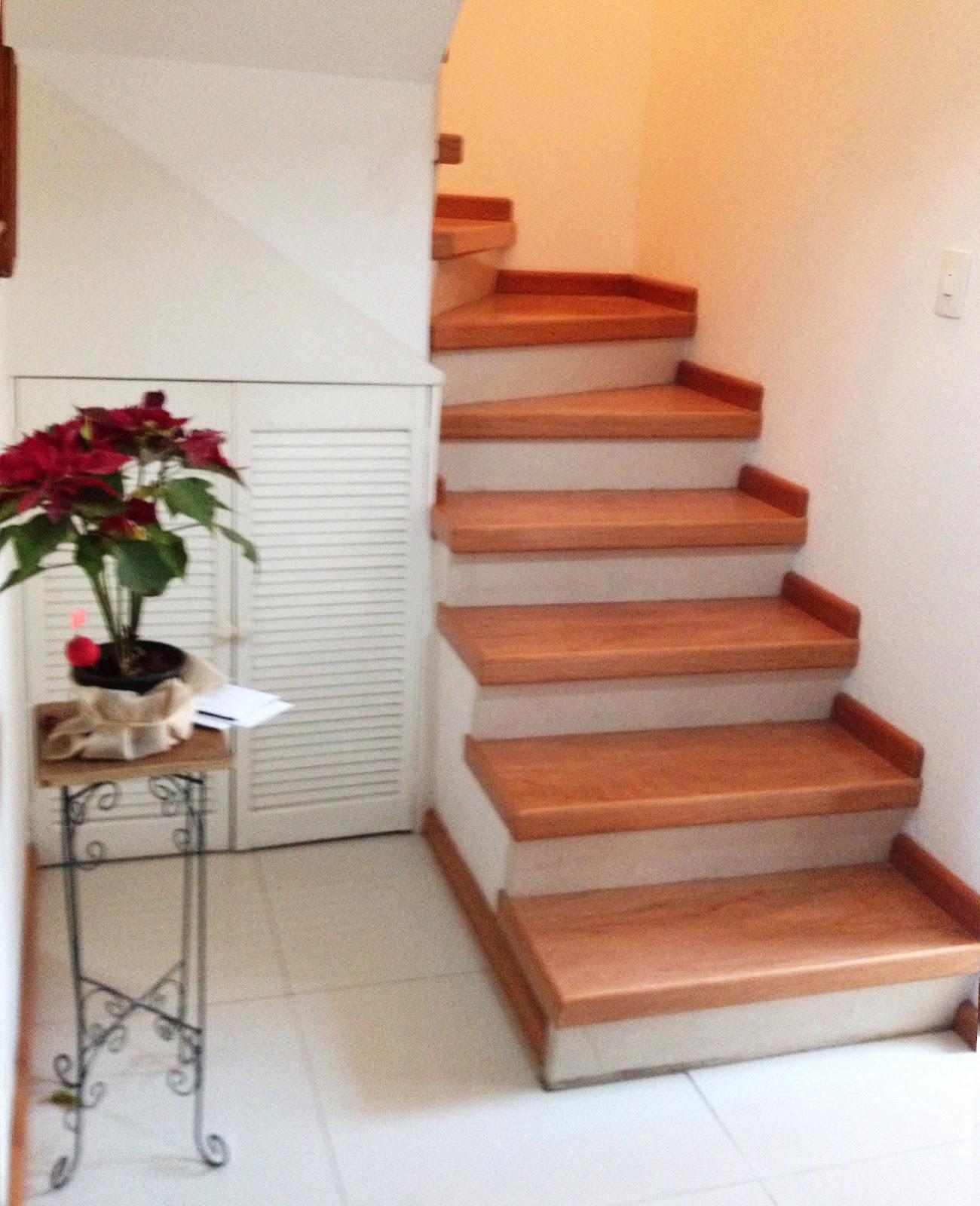 Barandales de herrería y escaleras de madera.