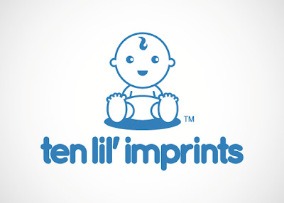 Ten lil' imprints logo design