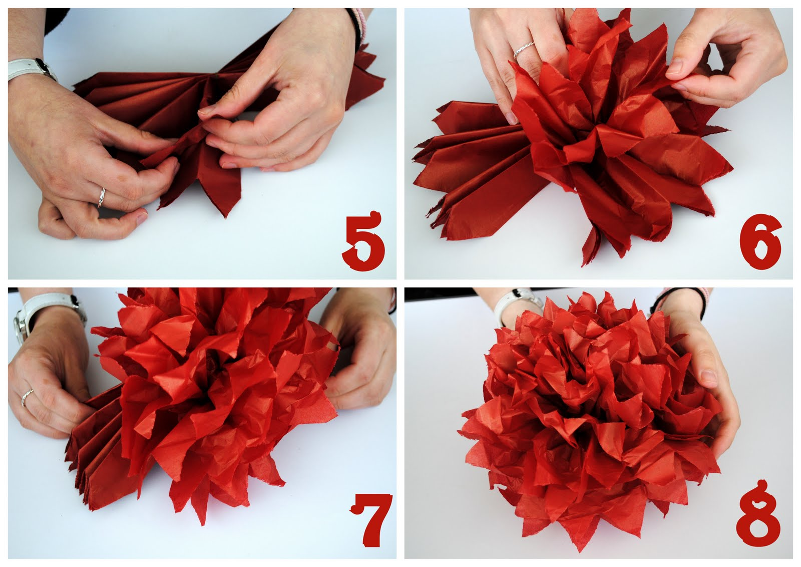 Видео как делать помпоны из бумаги