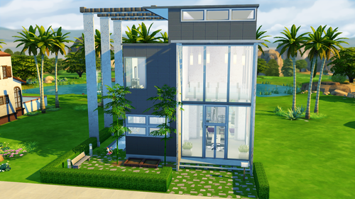 Sims 4 Modern House Tutorial Sims DIY Home Plans Database