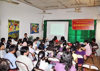 Hình ảnh lớp tập huấn nghiệp vụ thư viện do TTVH huyện Củ Chi tổ chức