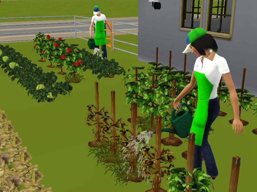 My sims 3 blog gardener npc updated by douglasveiga for Indoor gardening sims 4