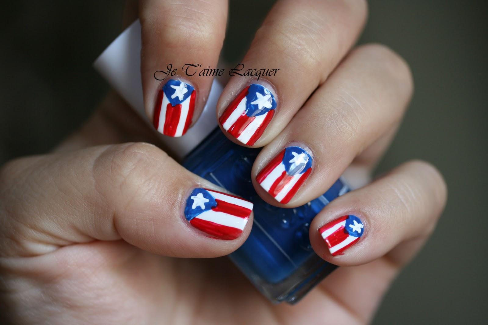 Puerto Rican Flag Nail Designs