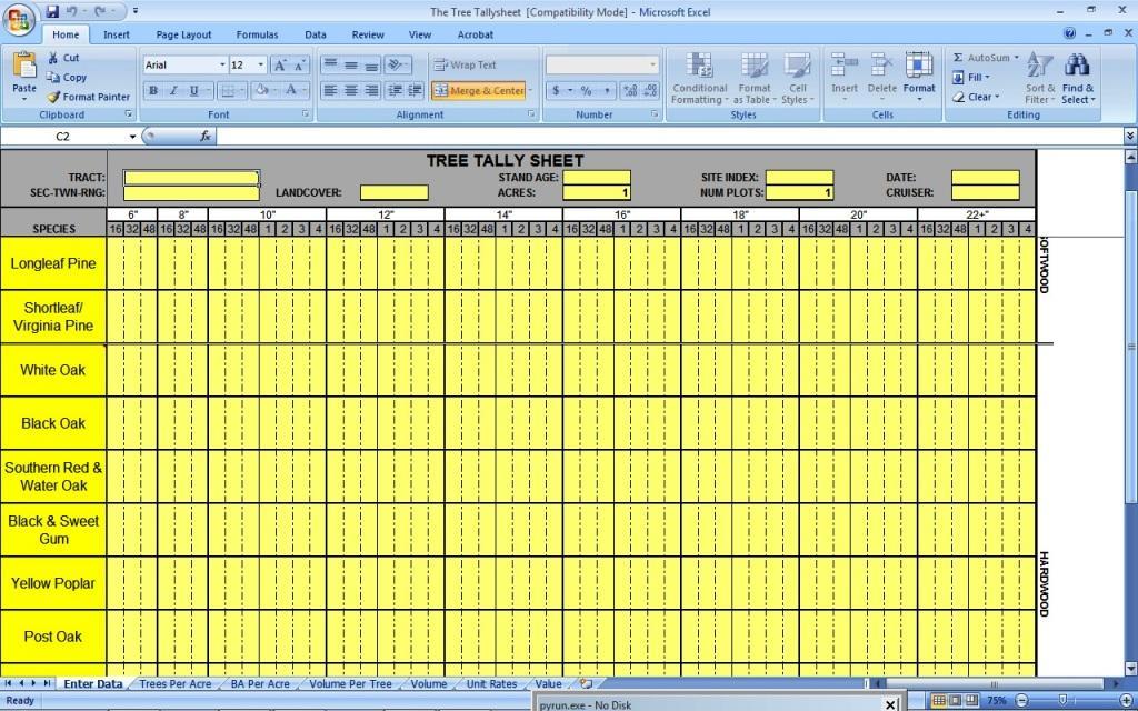 Tally Sheet Excel Template - mandegar.info
