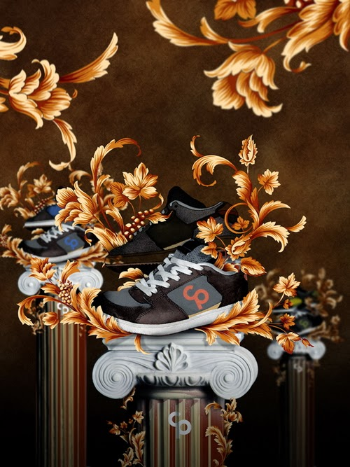A Shoe Advertisement Poster Using Floral
