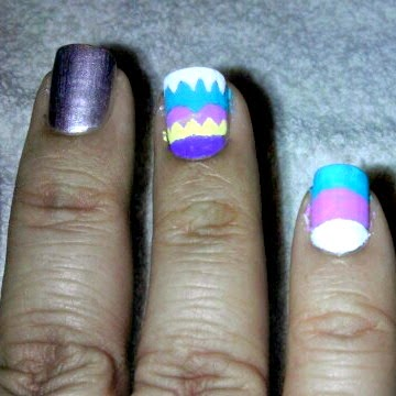 acrylic paint, nail art, manicure monday, nail polish, pinkle, rainbow egg,