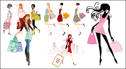 Vector shopping, women, women, girls, shopping bags,hand bag, labeling, high-rise buildings, fashion shopping, shopping, shopping, vector materia, Download Shopping Girl Vector Free, download girl vector, download lady vector, download woman vector, download vector belanja, membeli vector, store vector