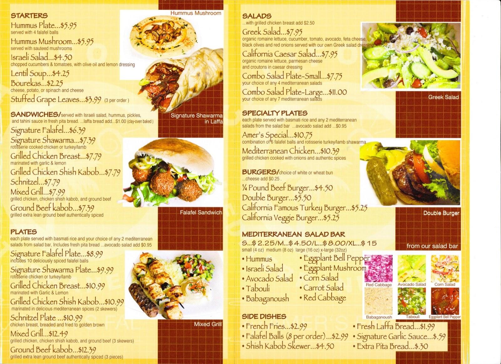 Vc menu california mediterranean grill amer 39 s falafel for Al tannour mediterranean cuisine menu