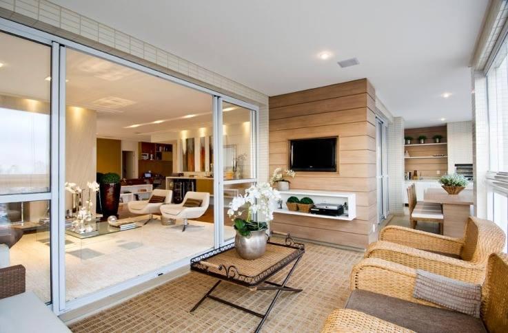 Construindo minha casa clean varandas sacadas integradas for Ver pisos decorados
