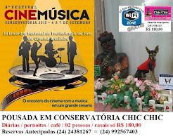 Festival de Cinema e Música na Pousada em Conservatória