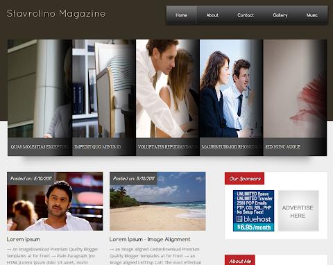 Stavrolino Magazine Blogger Theme