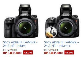 Harga Kamera Sony Alpha SLT-A65VK