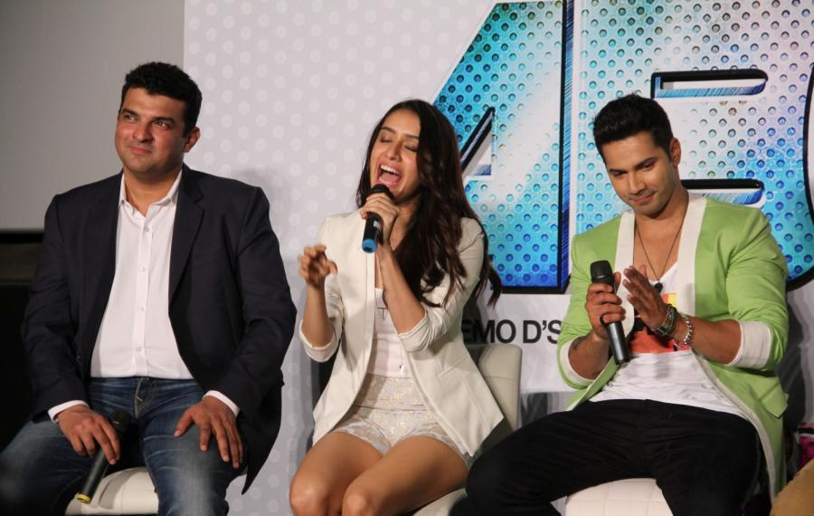 Sharddha Kapoor in White Jacket Silver Shorts Gorgeous Beauty at ABC 2 Press Meet Promotion