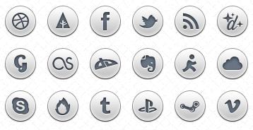 Simple Social Icons PSD